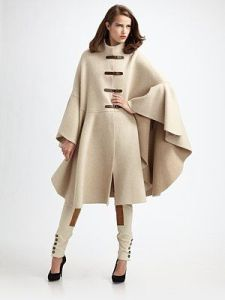 dior holly herringbone knit cape